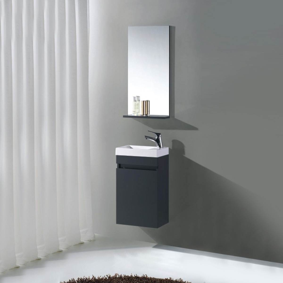16 In. Wall Mount Vanity Set with Mirror (MS400C-SET)