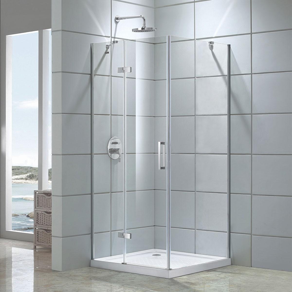 48 In. Pivot Shower Door and 36 In. Side Panel (DK-D306-90)