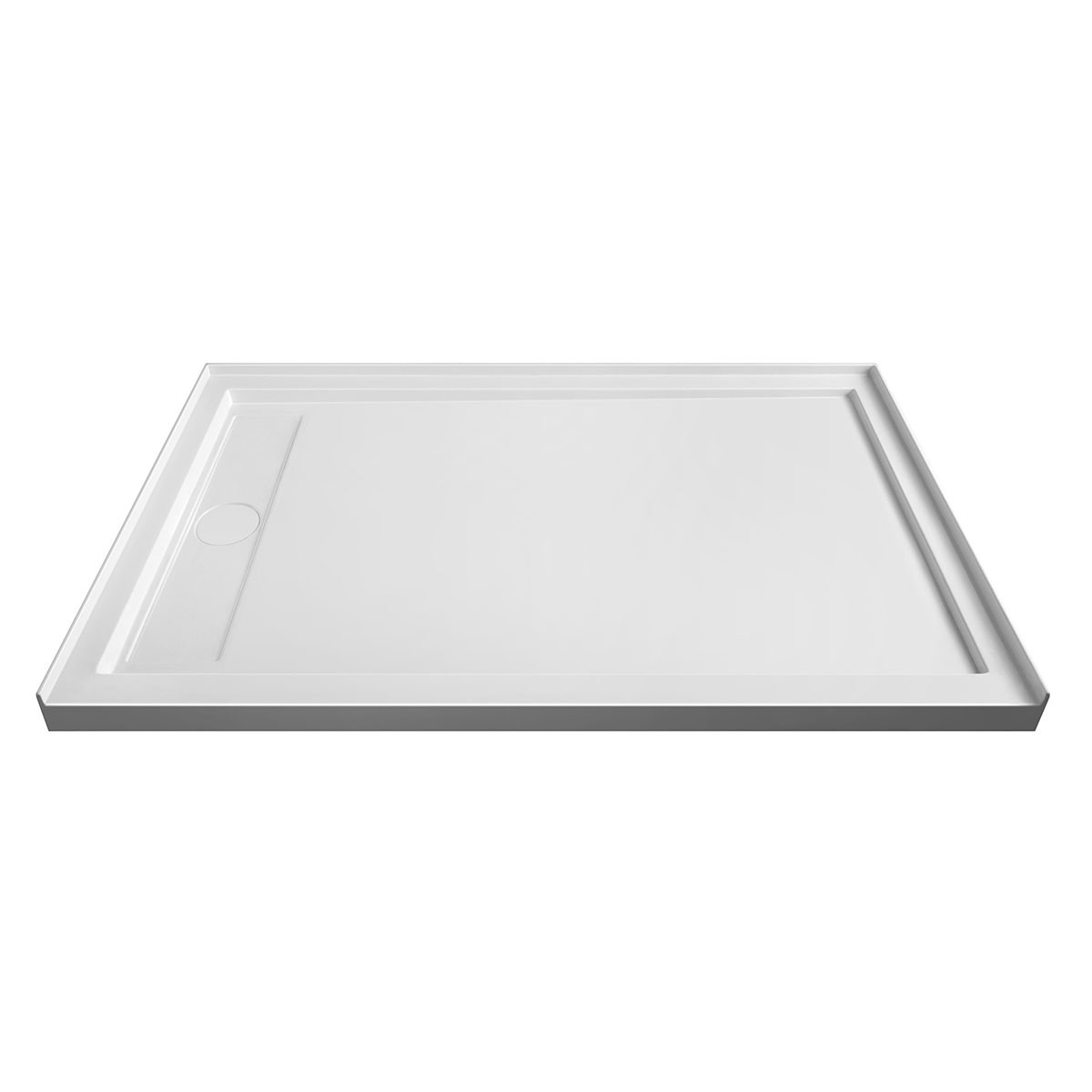 60 x 36 In Rectangular Shower Base for Left Corner Installation (DK-STA-18004)