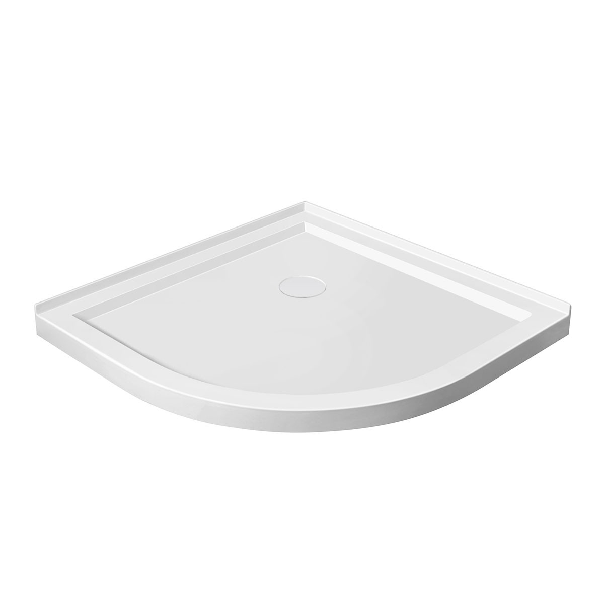 36 x 36 In Round Shower Base for Corner Installation (DK-STA-18006)