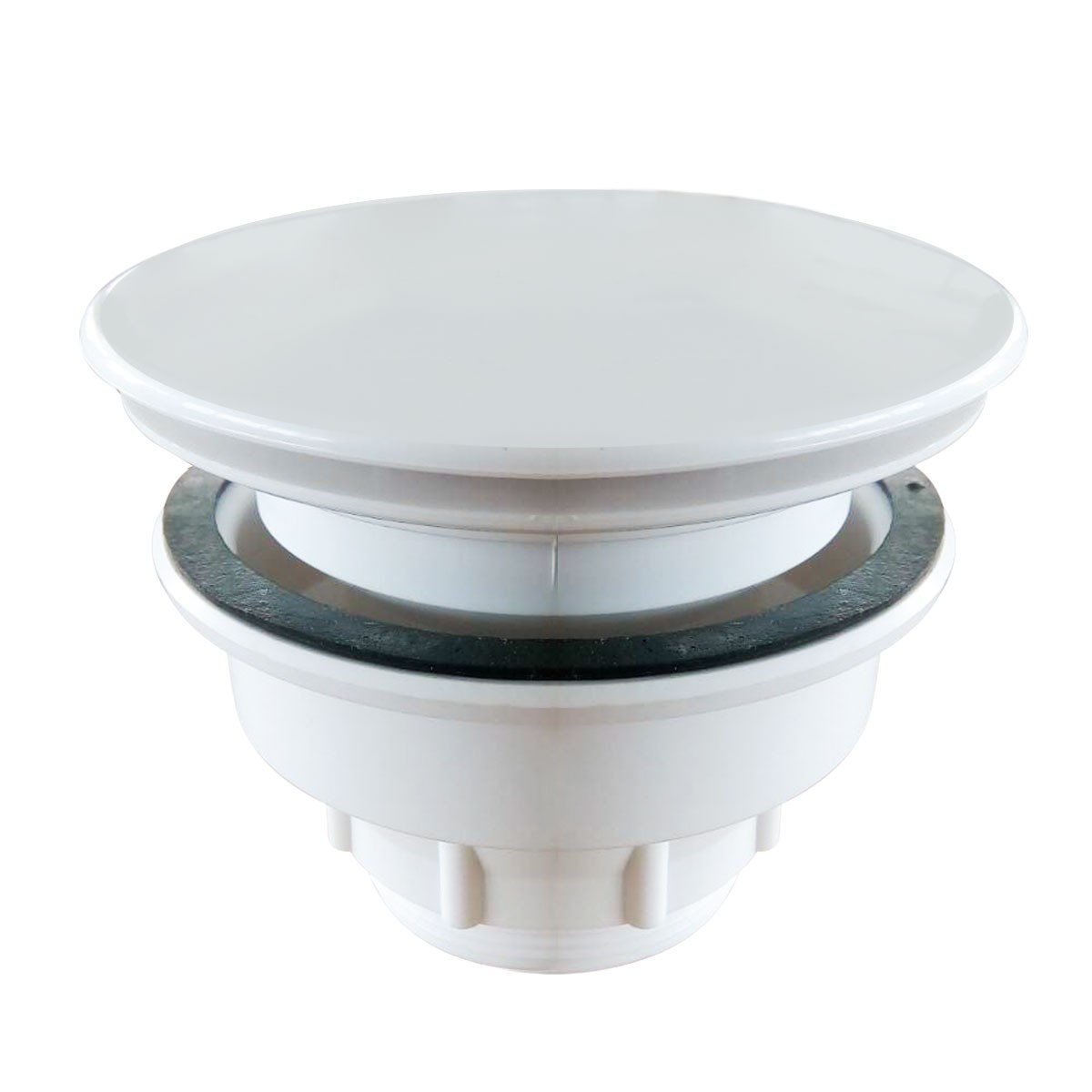 White Plastic Shower Drain (DRA-C01)