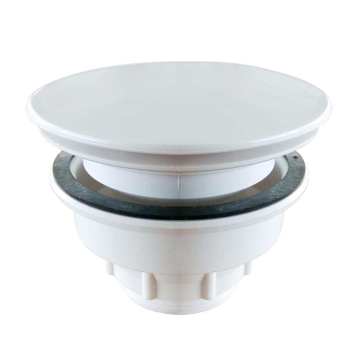 White Plastic Shower Drain (DRA-C01)