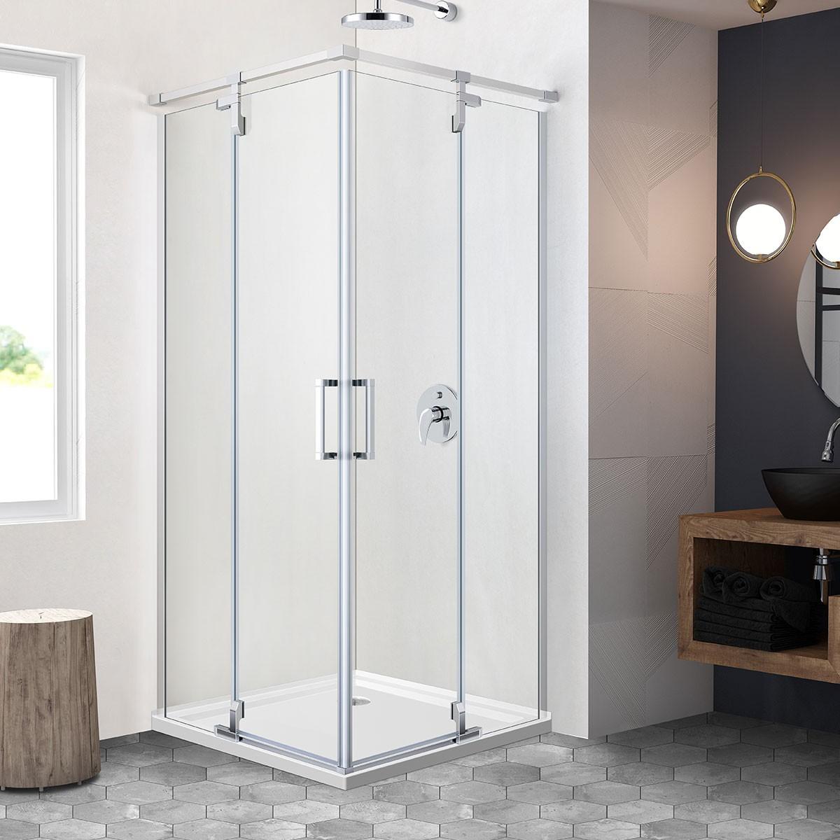 36 x 36 In. Square Shower Door (DK-ZD1001-6)   Decoraport Canada