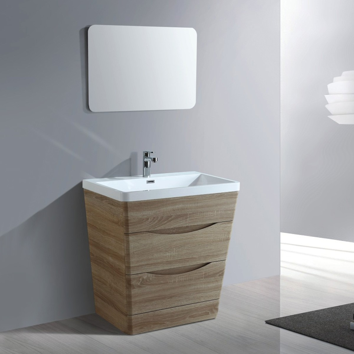 32 In. Bathroom Vanity Set with Mirror (MY8002-SET)