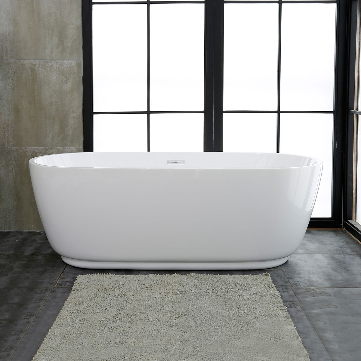 59 In Freestanding Bathtub - Acrylic Pure White (DK-PW-5957)