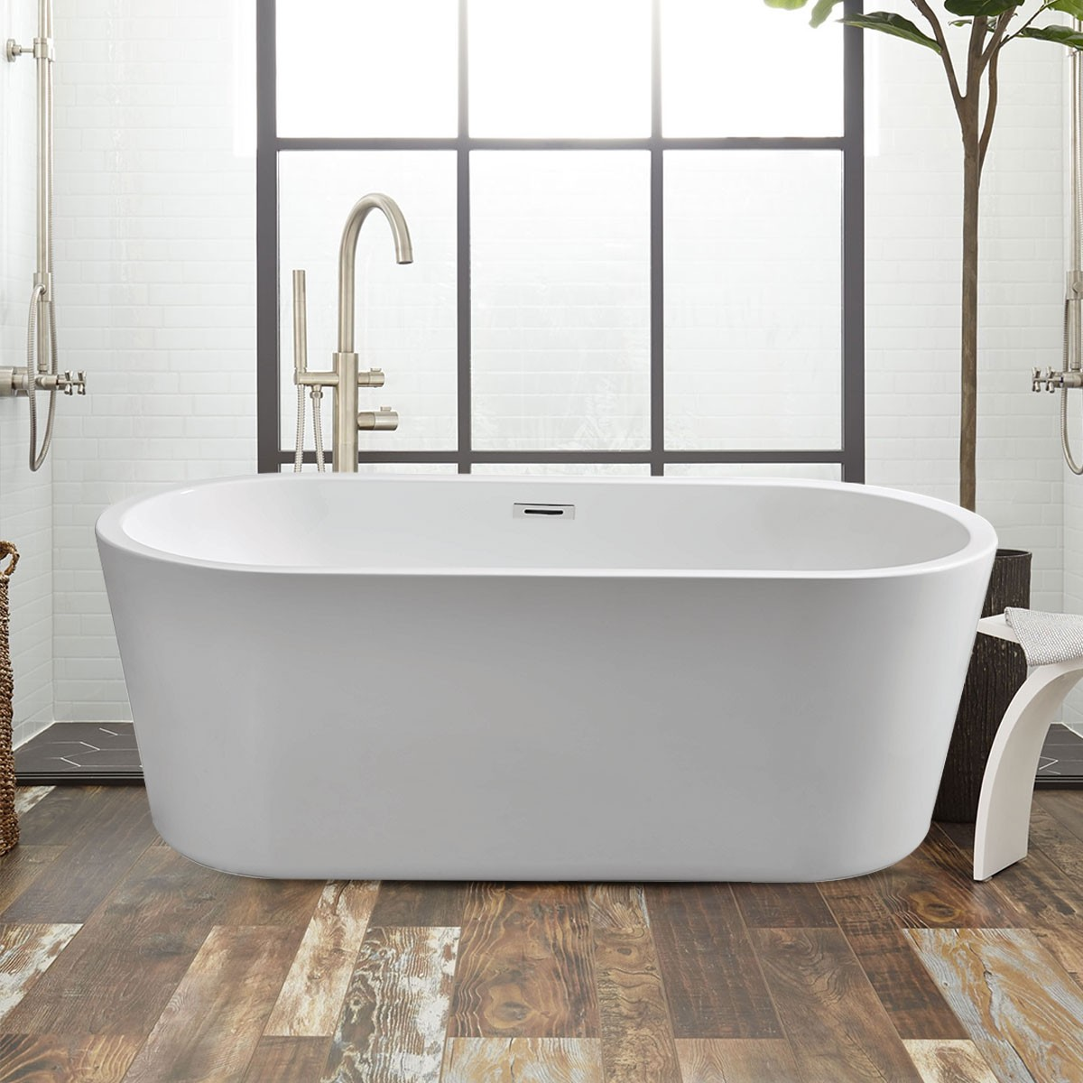 59 In Soaking Bathtub – Acrylic Pure White (DK-PW-99011)