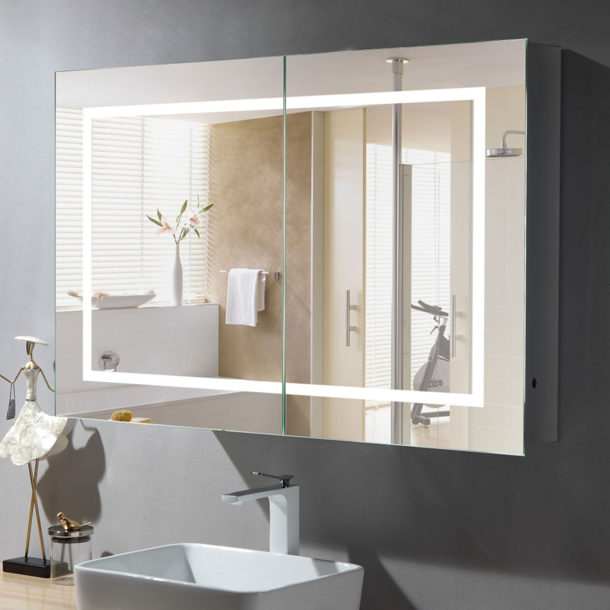 36 x 24 In LED Mirror Cabinet with Infrared Sensor (GG03-3624)