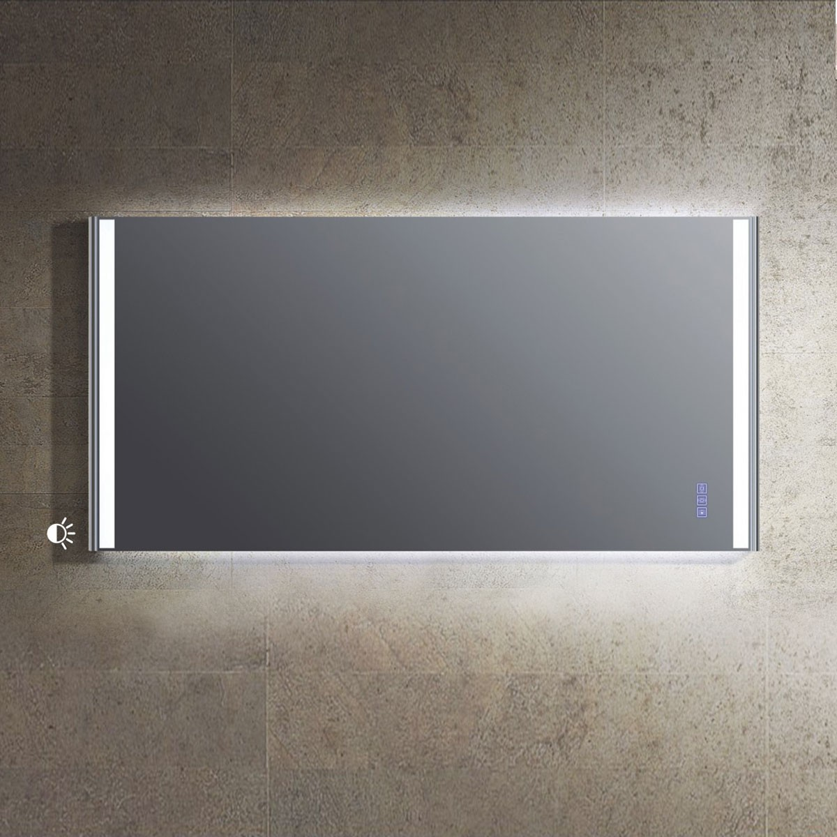 59 x 30 In. Bathroom Vanity LED Mirror with Touch Button (DW1604D-M)