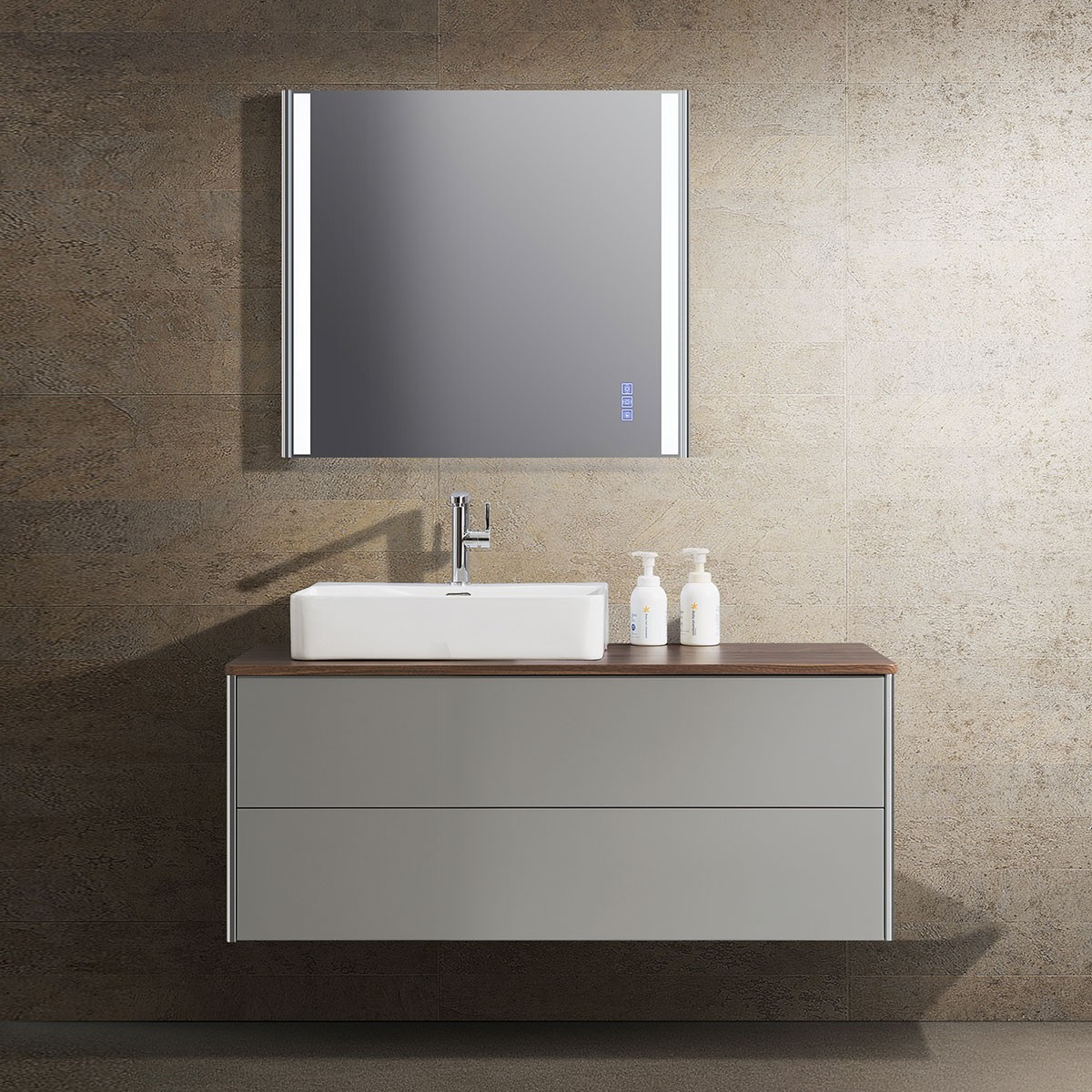 47 In. Wall Mount Bathroom Vanity Set with LED Mirror (DW1202-SET)