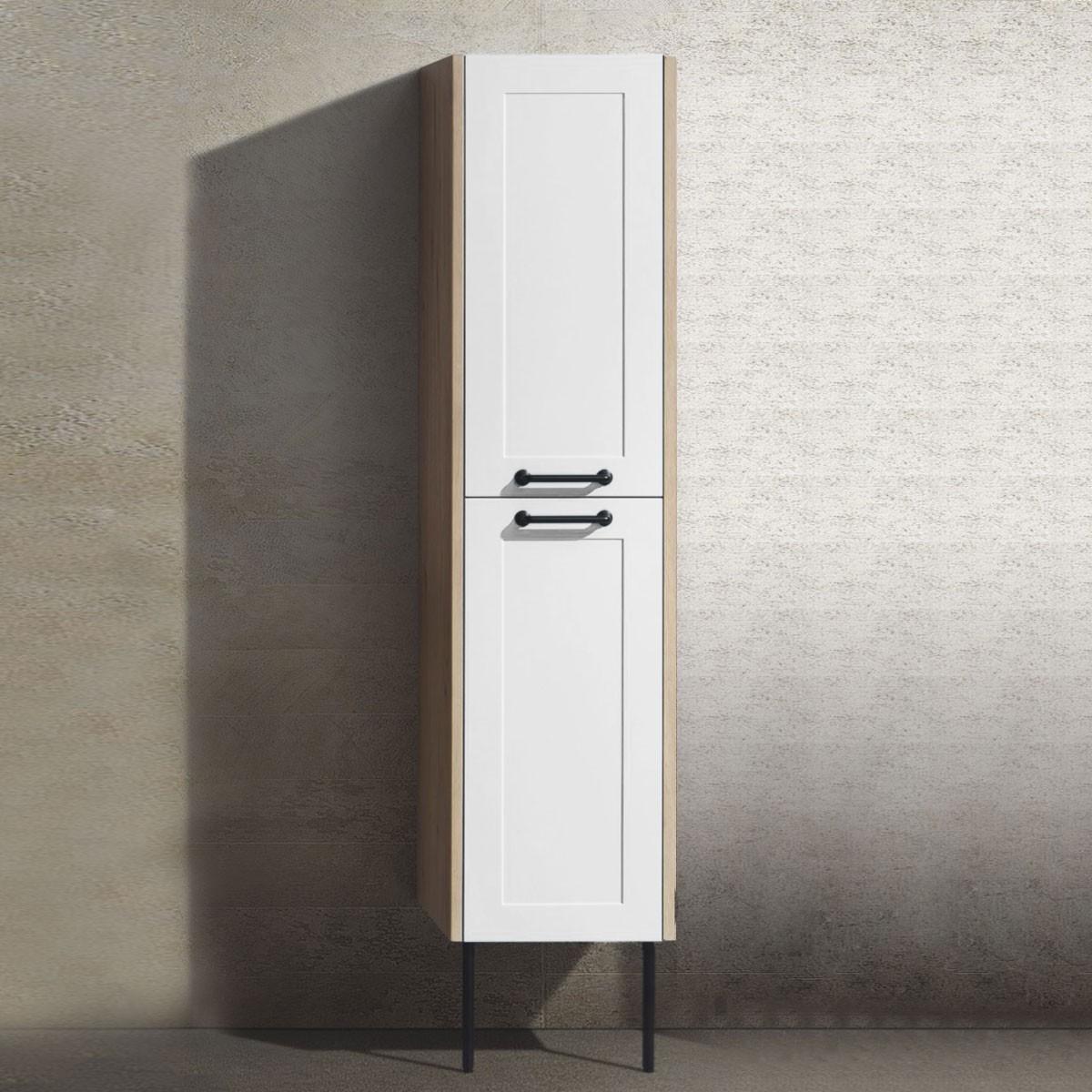 14 x 13 x 63 In. Wall Mount Bathroom Linen Cabinet (TP1002-S)