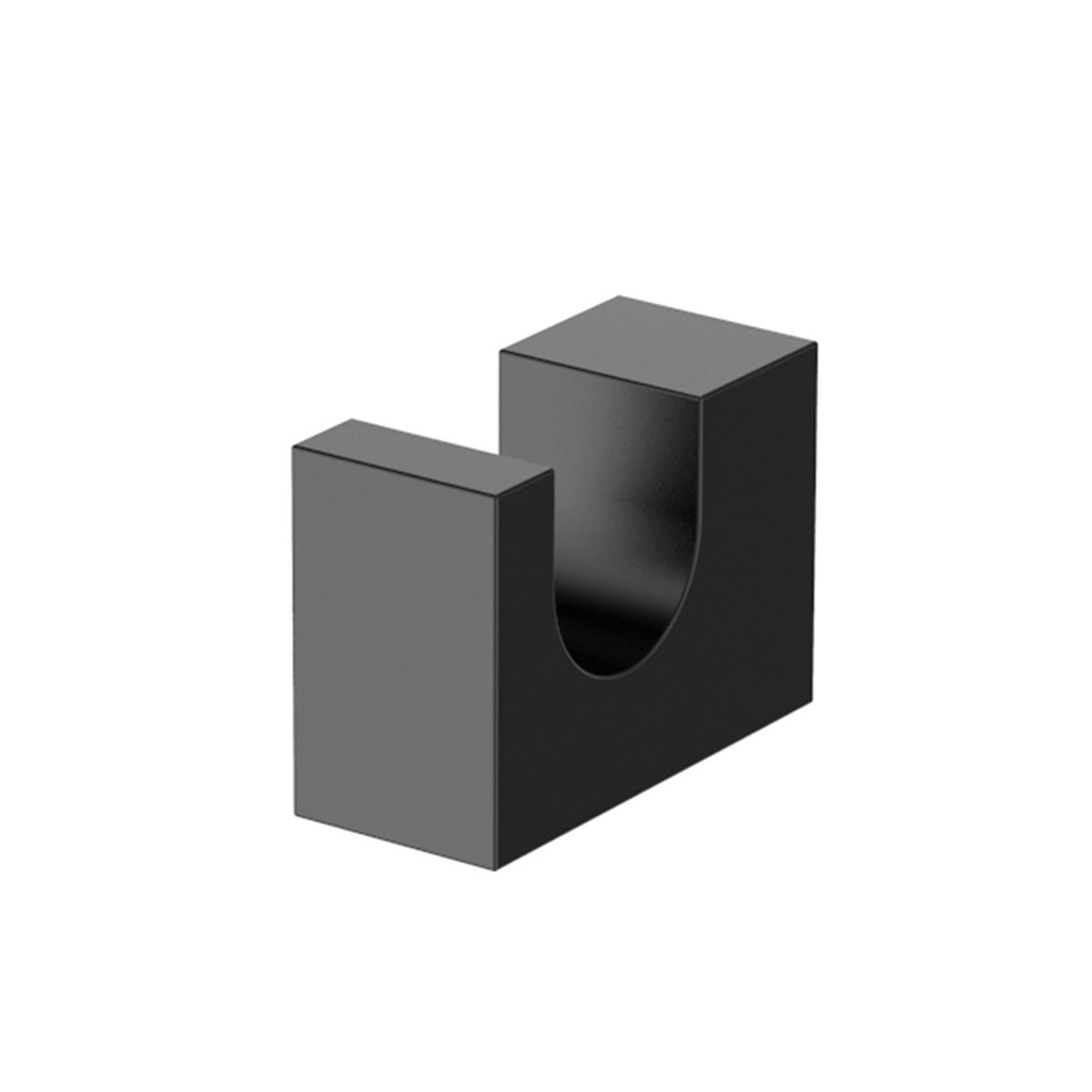 Towel Hook - Matte Black Brass (OD03601B)