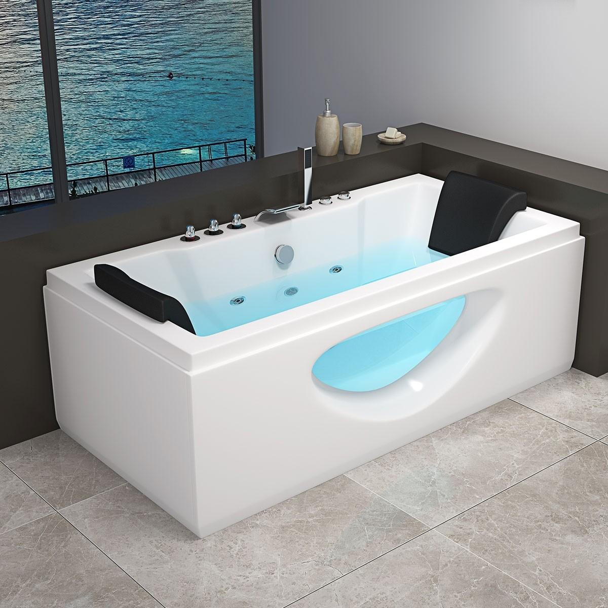 Decoraport 71 x 36 In Whirlpool Tub in Acrylic White (DK-RL-6132)