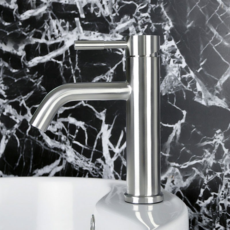 Basin&Sink Faucet - Single Hole Single Lever - Brass with Chrome Finish (5920A)