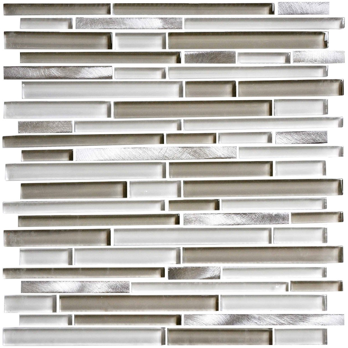 12 in. x 12 in. Electroplated Glass Mosaic Tile - 8mm Thickness (DK-MG10154914AR2)