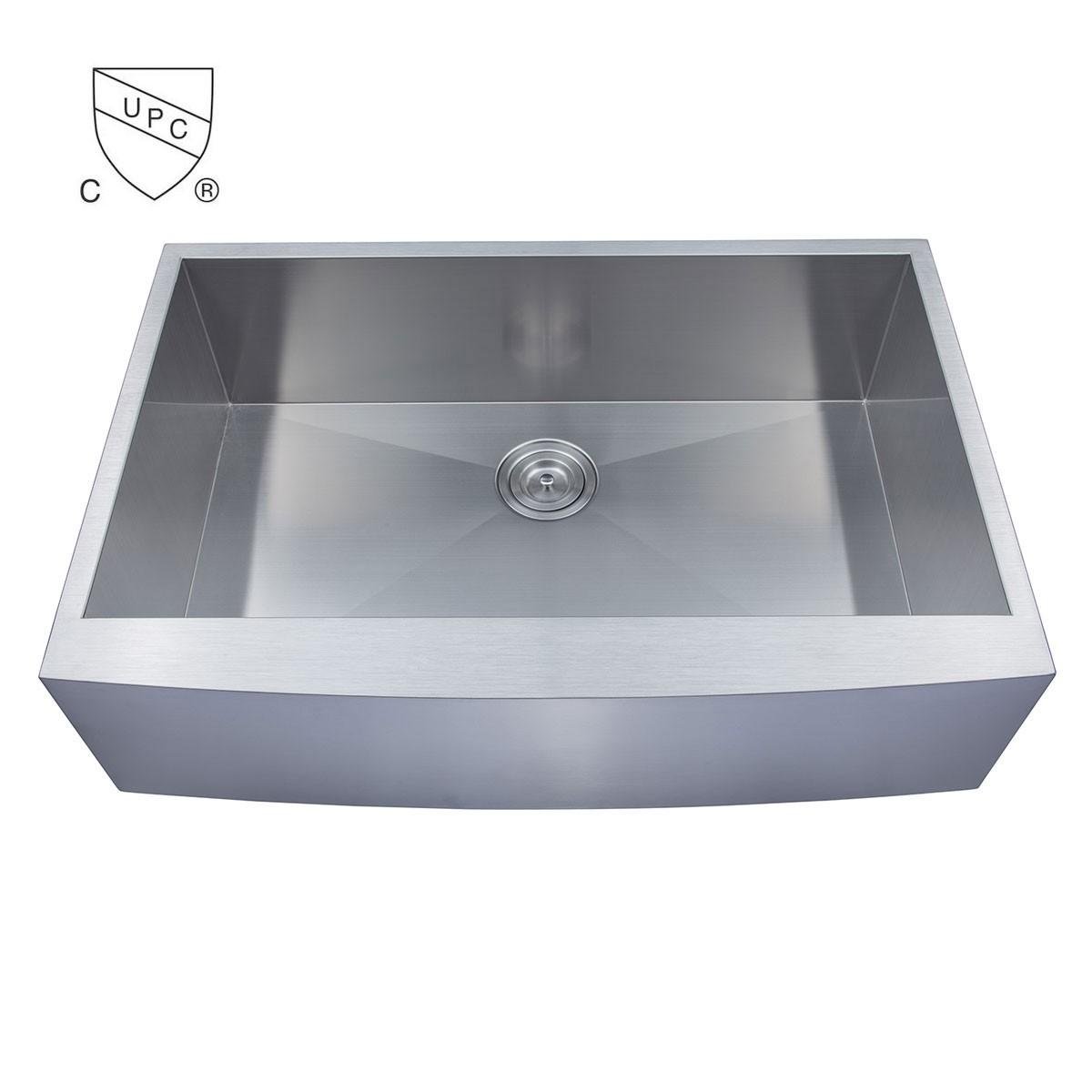 Stainless Steel Handmade Kitchen Sink (DK-SC-AF3322-R0) Decoraport ...