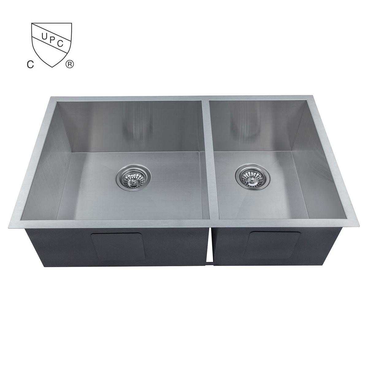 Stainless Steel Handmade Kitchen Sink (D3320-R0)