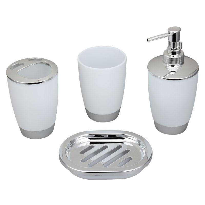 4 Piece Bathroom Accessory Set White Dk St009