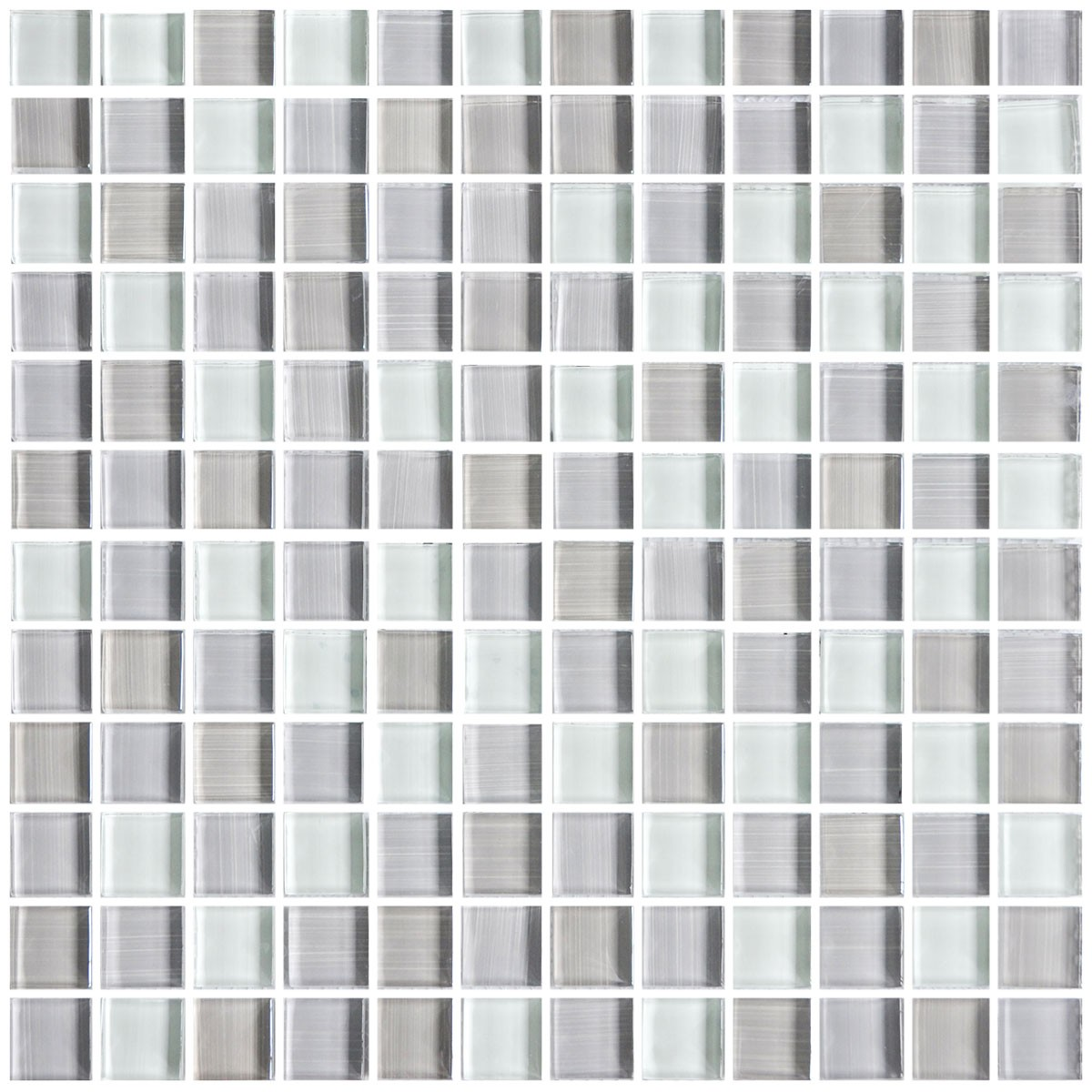 12 In X 12 In Electroplated Glass Mosaic Tile 8mm