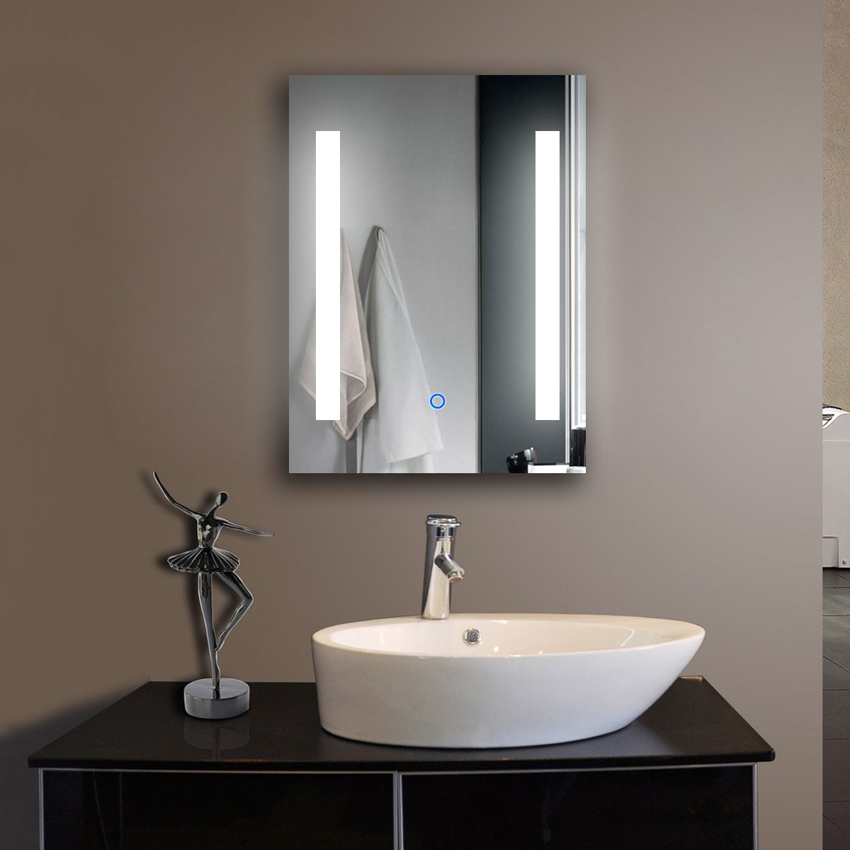 24 x 32 In Vertical LED Bathroom Mirror with Touch Button (DK-OD-C23)