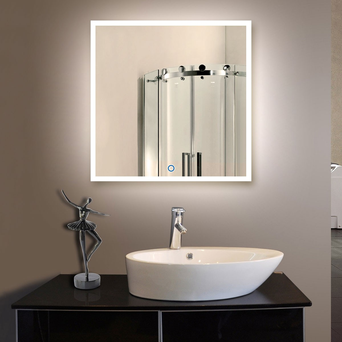 36 x 36 In and Vertical LED Bathroom Mirror with Touch Button (DK-OD-N031-E)