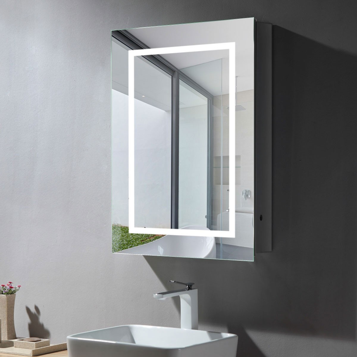 24 x 32 In LED Mirror Cabinet with Infrared Sensor (DK-NS169)