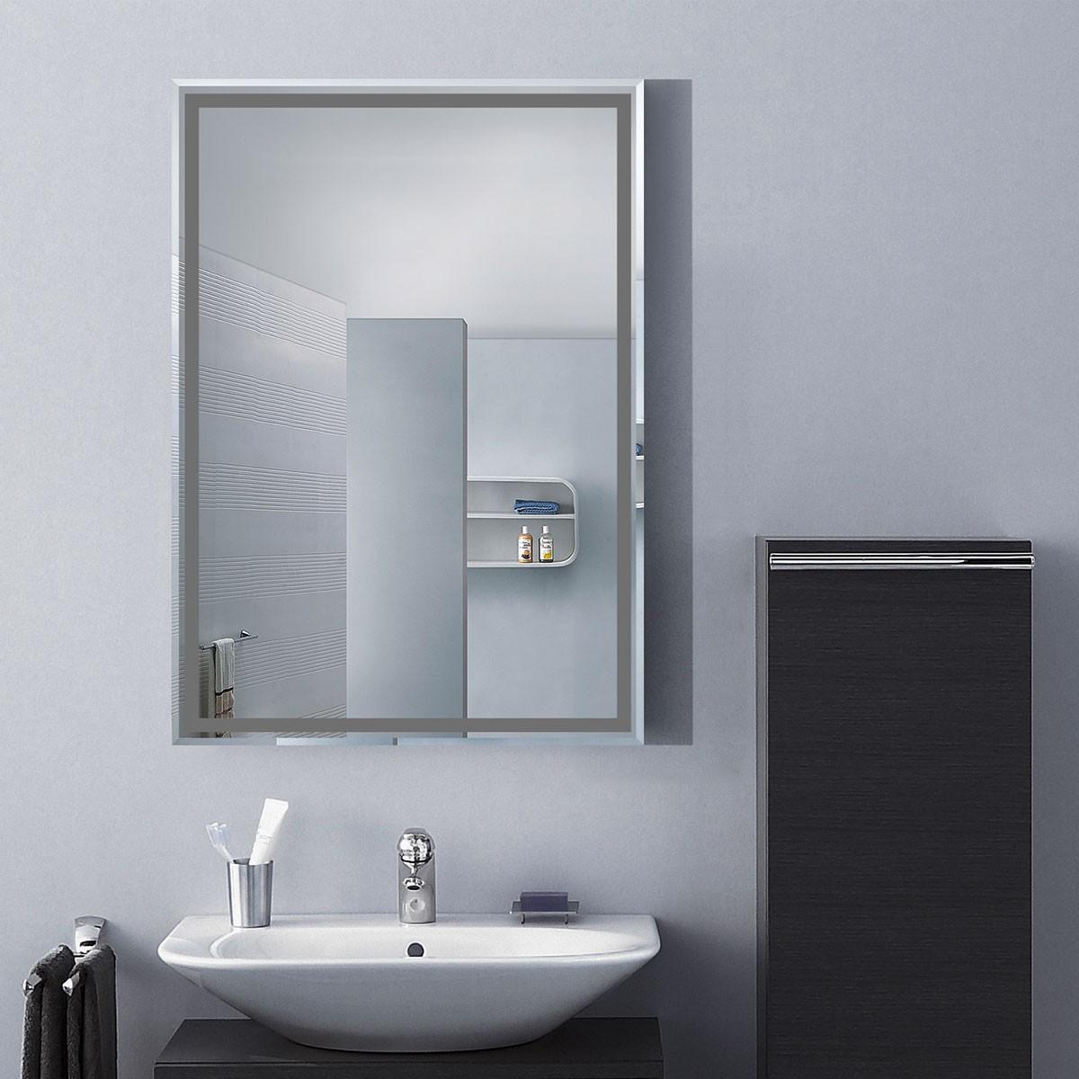 28 x 20 In. Wall-mounted Rectangle Bathroom Mirror (DK-OD-C226B ...
