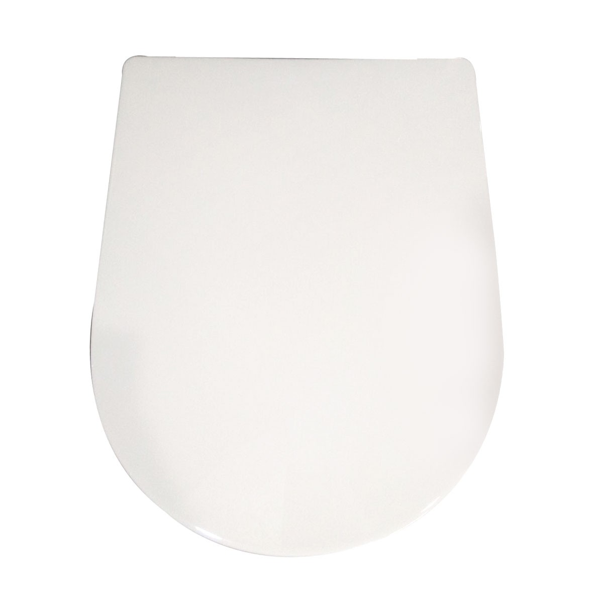PP White Round-front Soft Close Toilet Seat with Cover (DK-CL-010)