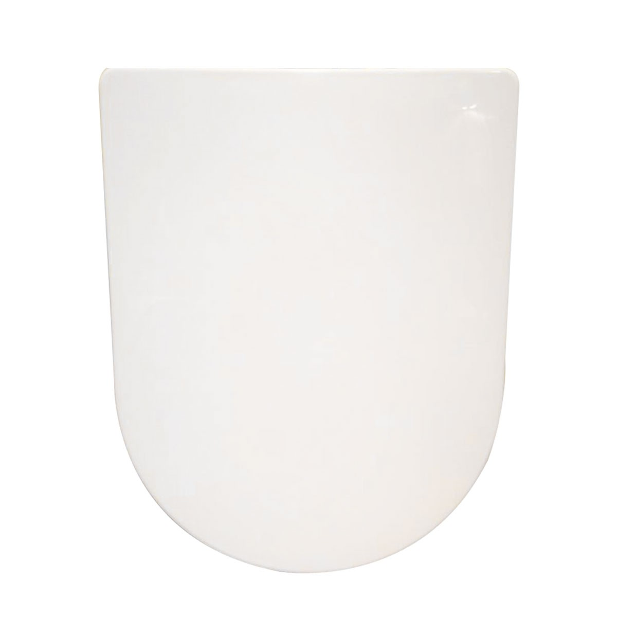 PP White Round-front Soft Close Toilet Seat with Cover (DK-CL-020)