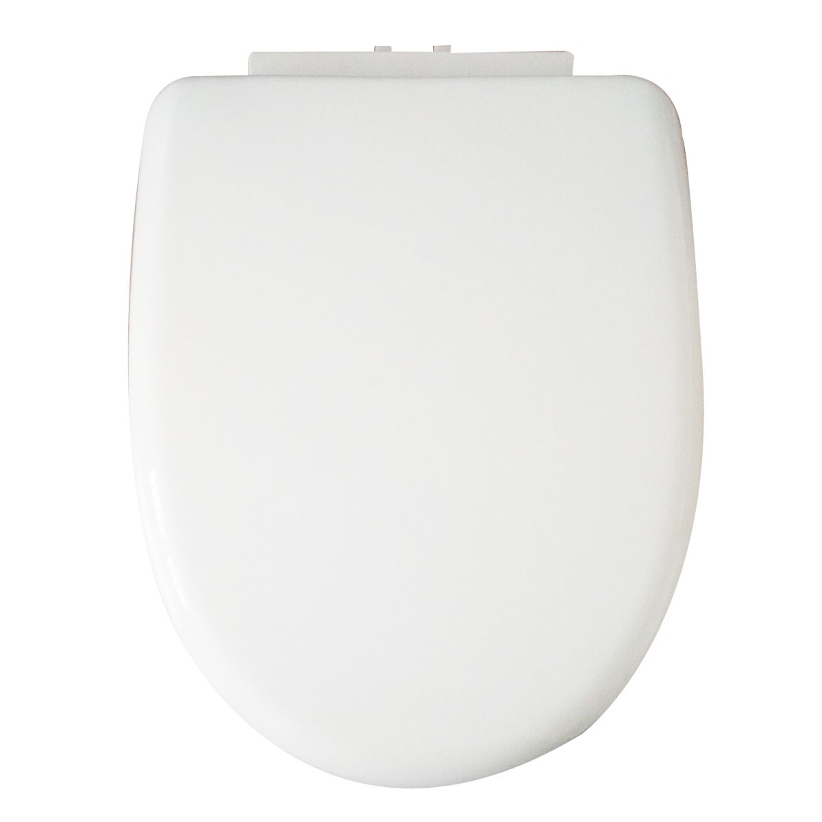 PP White Front Round Soft Close Toilet Seat with Cover (DK-CL-021)
