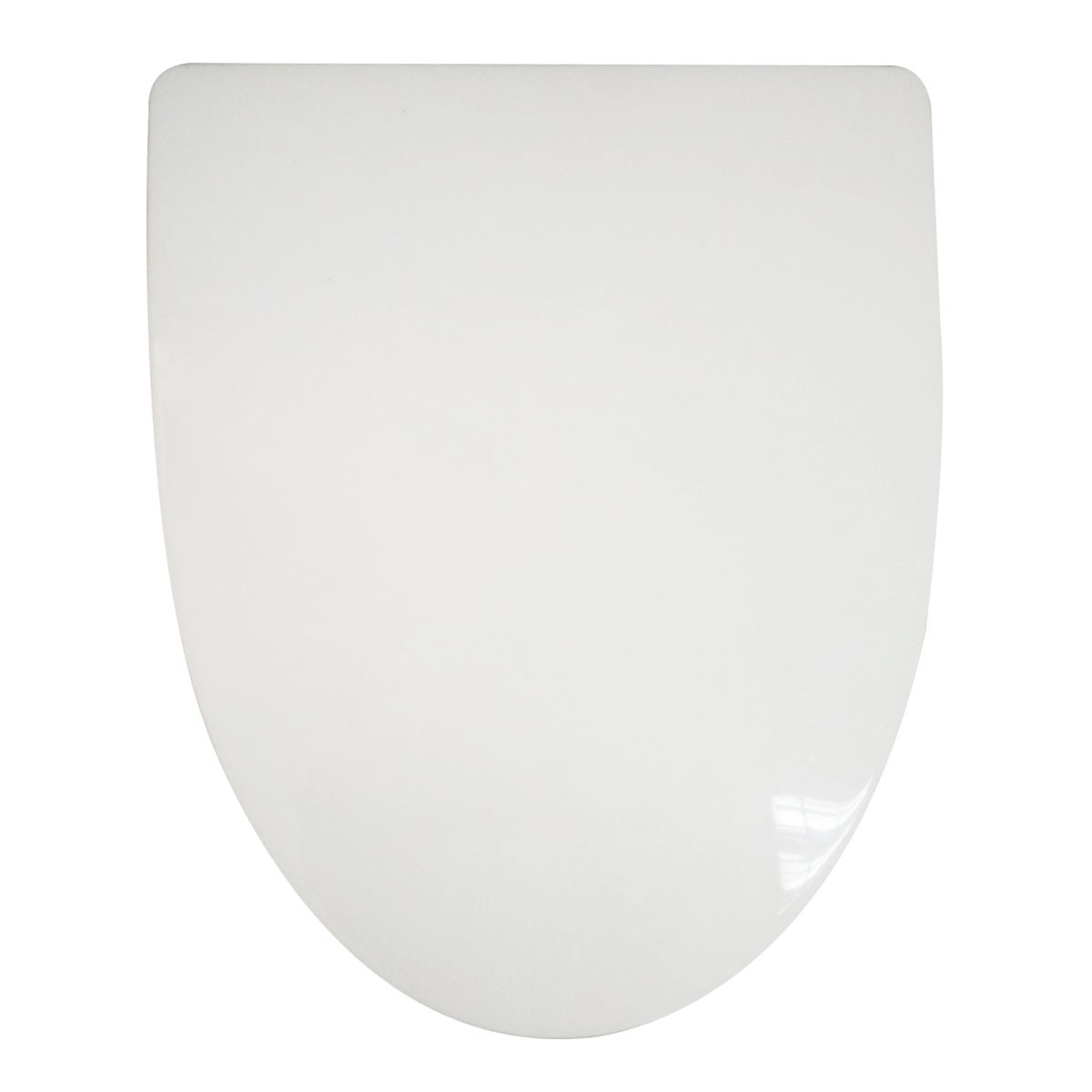 PP White Front Round Soft Close Toilet Seat with Cover (DK-CL-022)