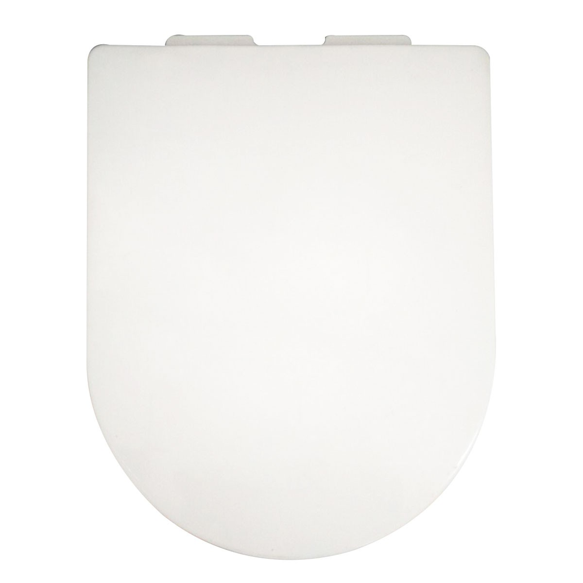 PP White Front Round Soft Close Toilet Seat with Cover (DK-CL-031)
