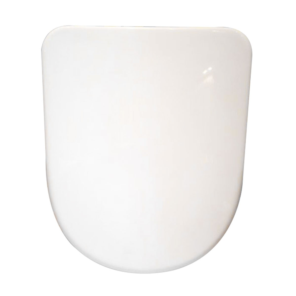 PP White Round-front Soft Close Toilet Seat with Cover (DK-CL-040)