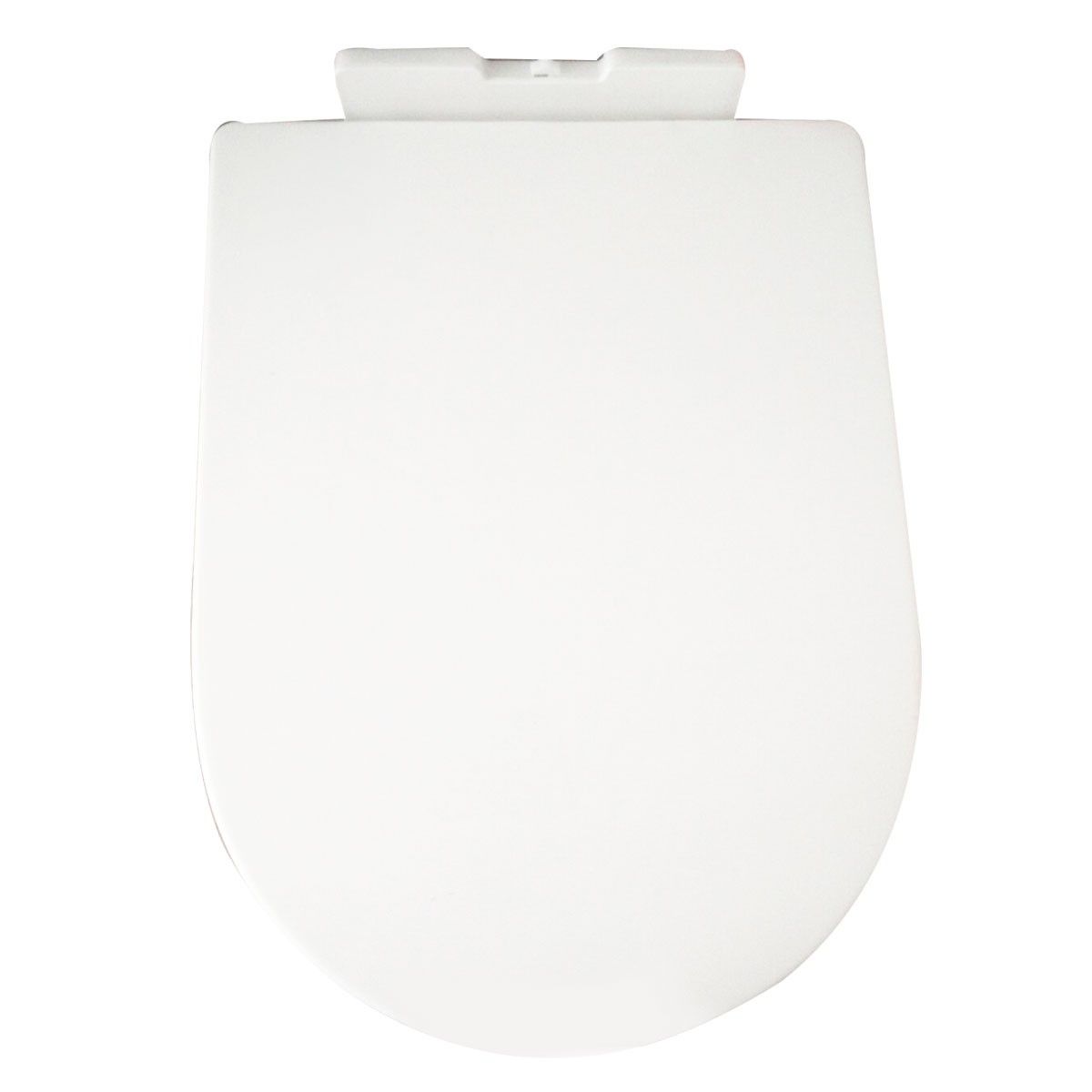 PP White Round-front Soft Close Toilet Seat with Cover (DK-CL-090)
