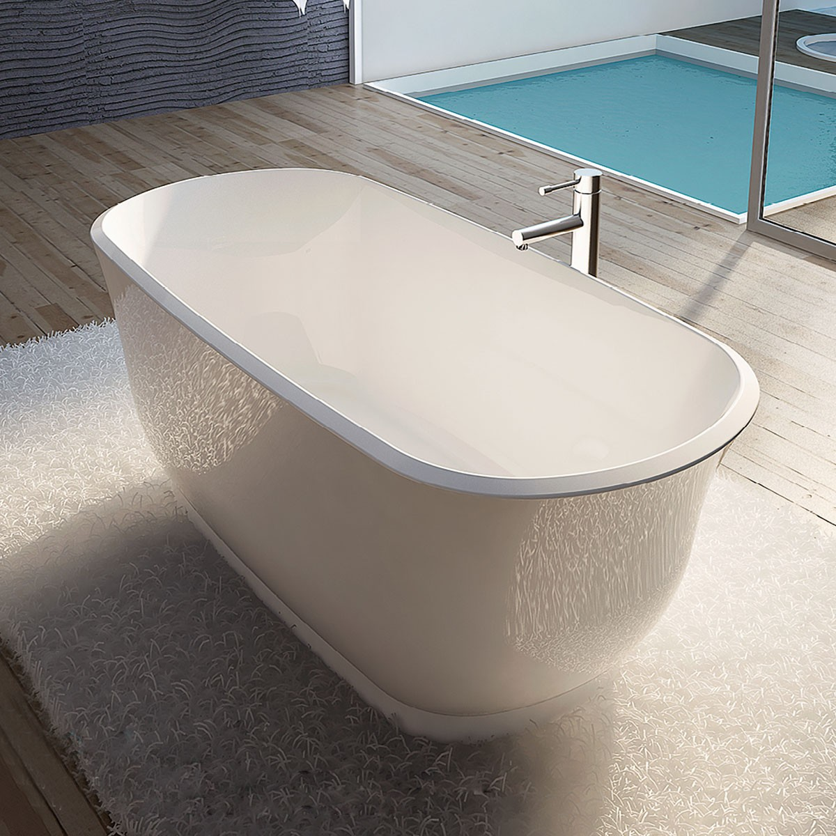 67 In White – Seamless Acrylic Soaker Bathtub (DK-AT-24778W)