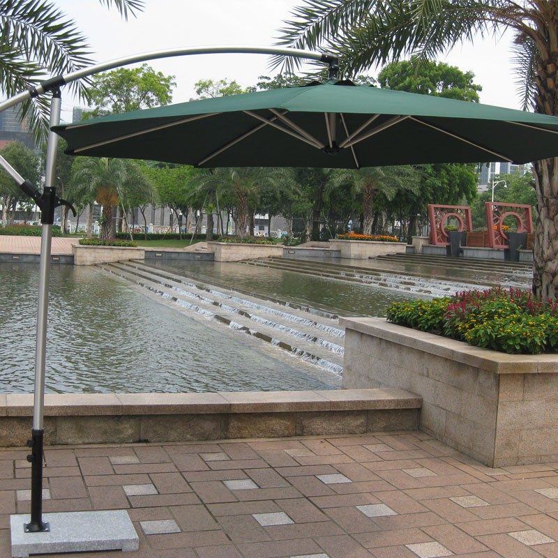9.8-ft  Deluxe Polyester  Offset Patio Umbrella (906AL-1)
