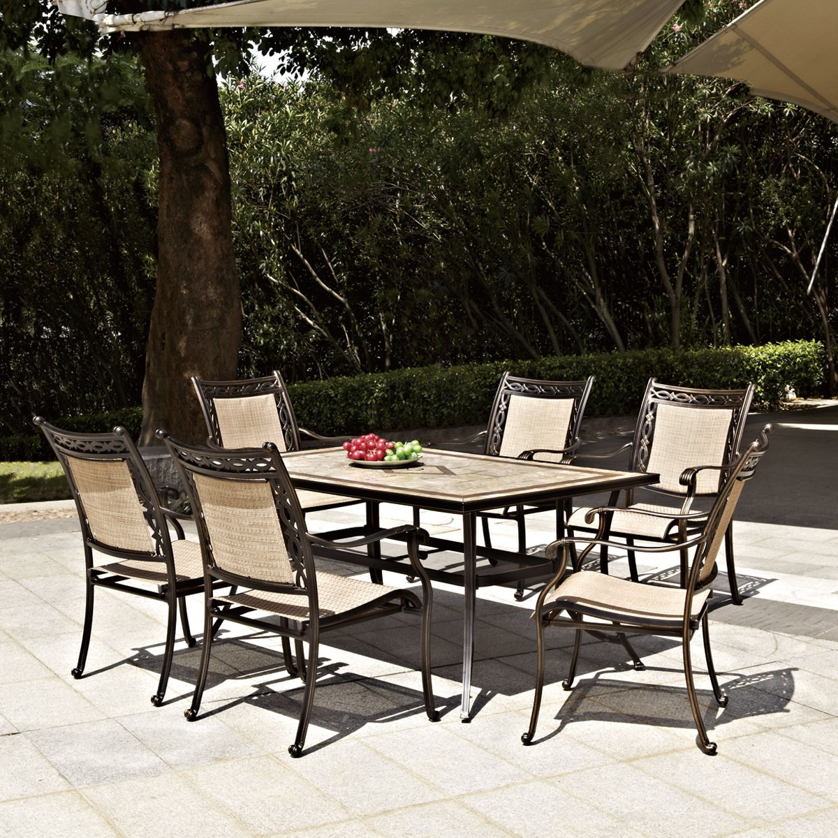 7 Pieces Dinning Set: Dining Table, 6 Chairs (LLS-CA008)