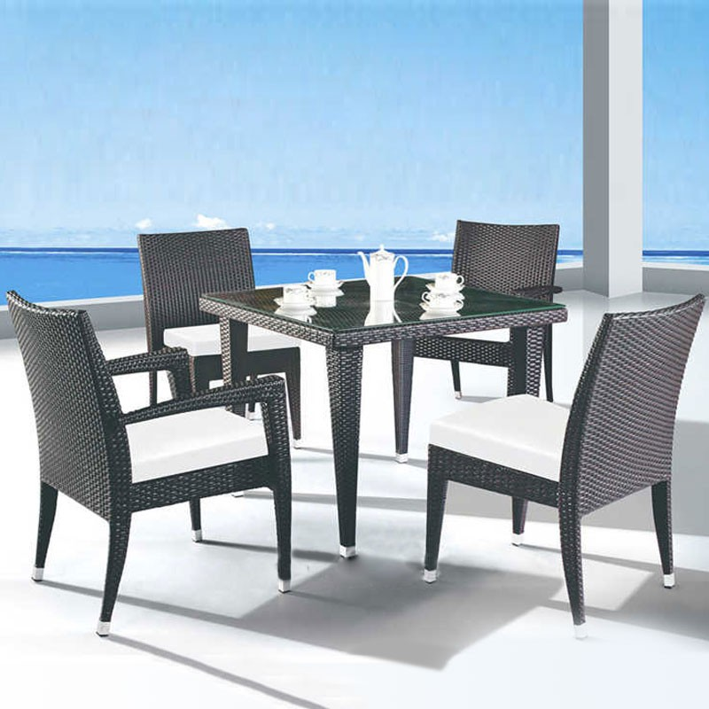 5 Pieces Dining Set: Dining table, 2 Chairs, 2 Armless Chairs (JMS-1619)