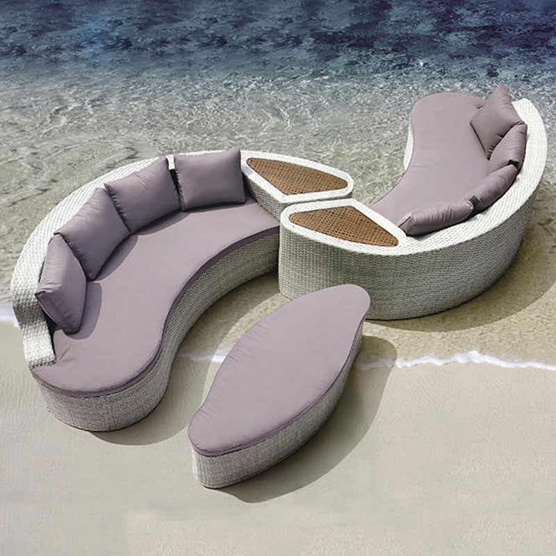 Wicker Patio Sectional with Cushion (JMS-637)