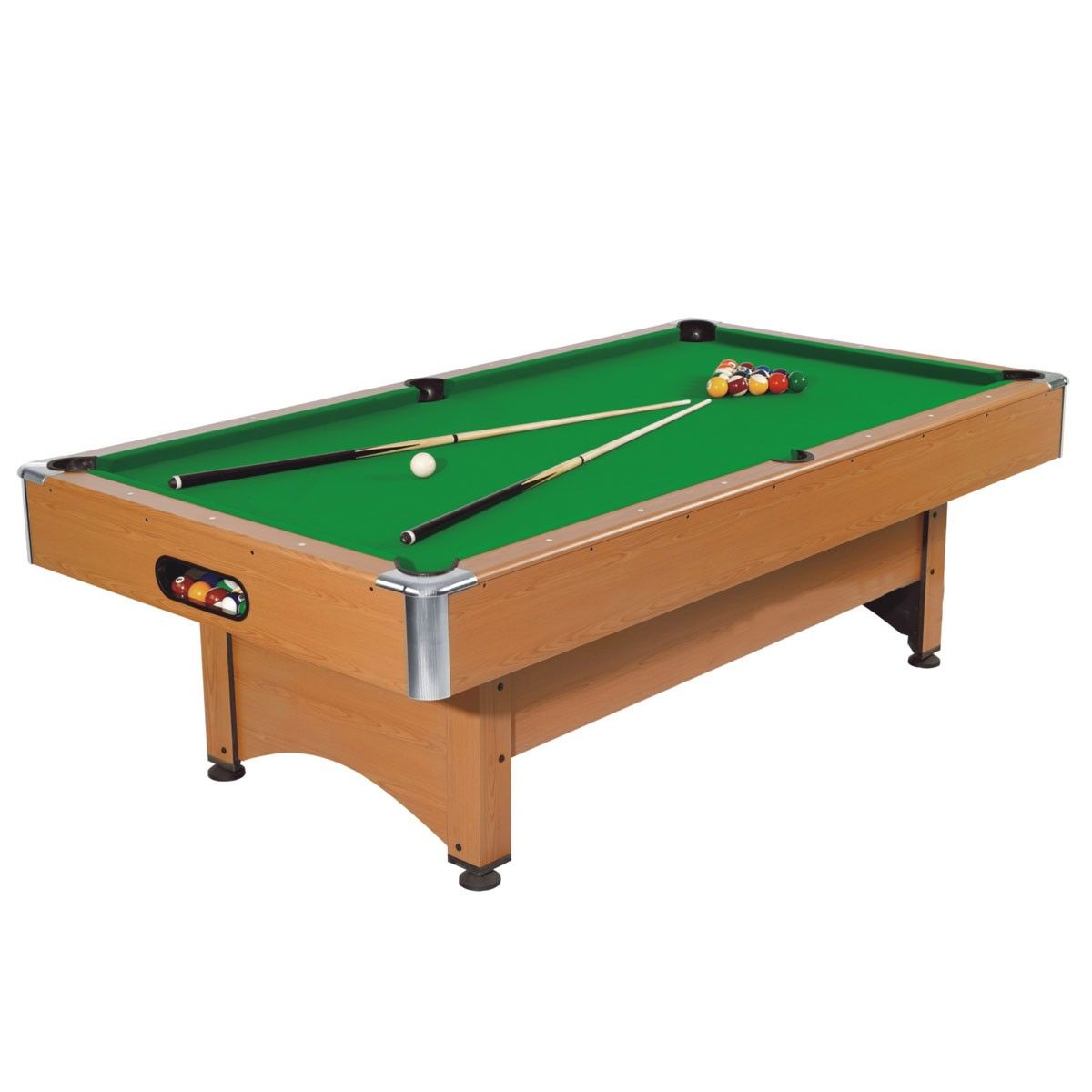 8 foot pool table with ball return system and accessories zlb p03 decoraport canada - Billiard table accessories ...
