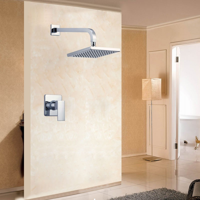 Bathroom Single Handle Shower Faucet - Brass with Chrome Finish (86H15-CHR-S)