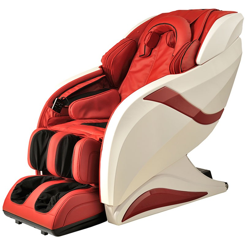 zero gravity heated reclining l track massage chair in red dla08 a