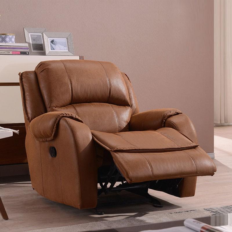 Brown Velvet Manual Swivel Reclining Chair (LH-EA91Z-2)