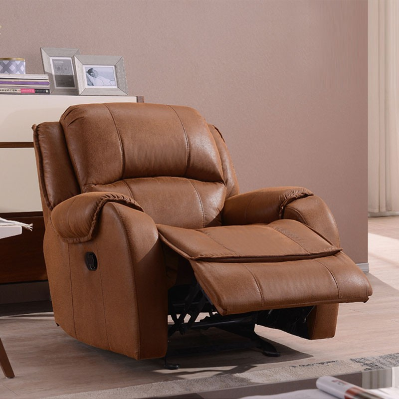 Brown Velvet Manual Rocker Reclining Chair (LH-EA91Z-3)