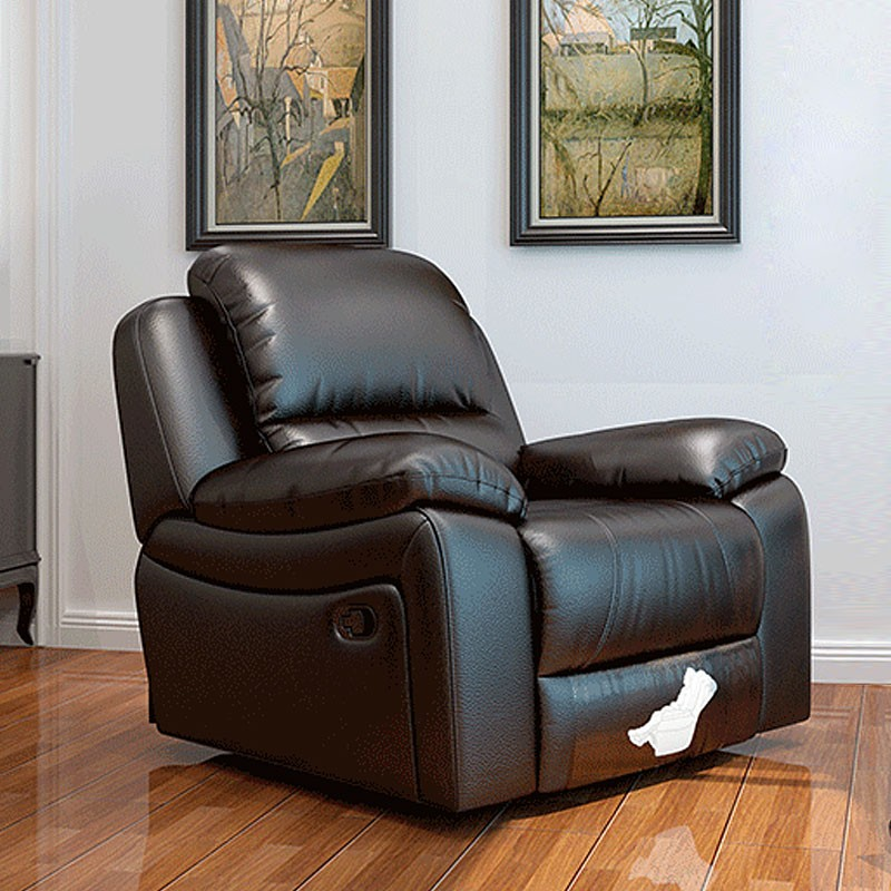 Chocolate Power-driven Reclining Chair in Faux Leather (LH-806A-1)