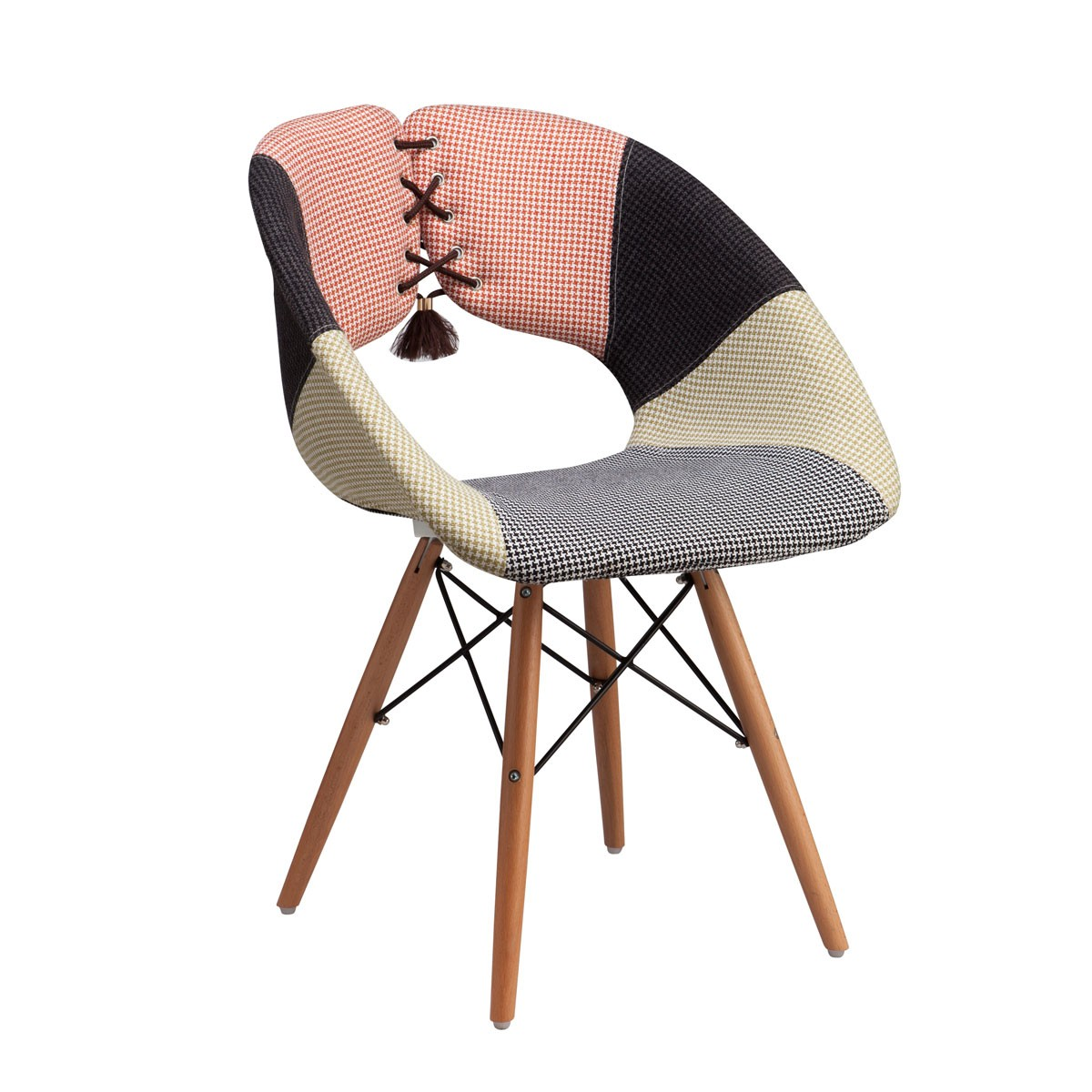 Upholstered Side Chair with Wood Legs - (YMG-SJ9203)