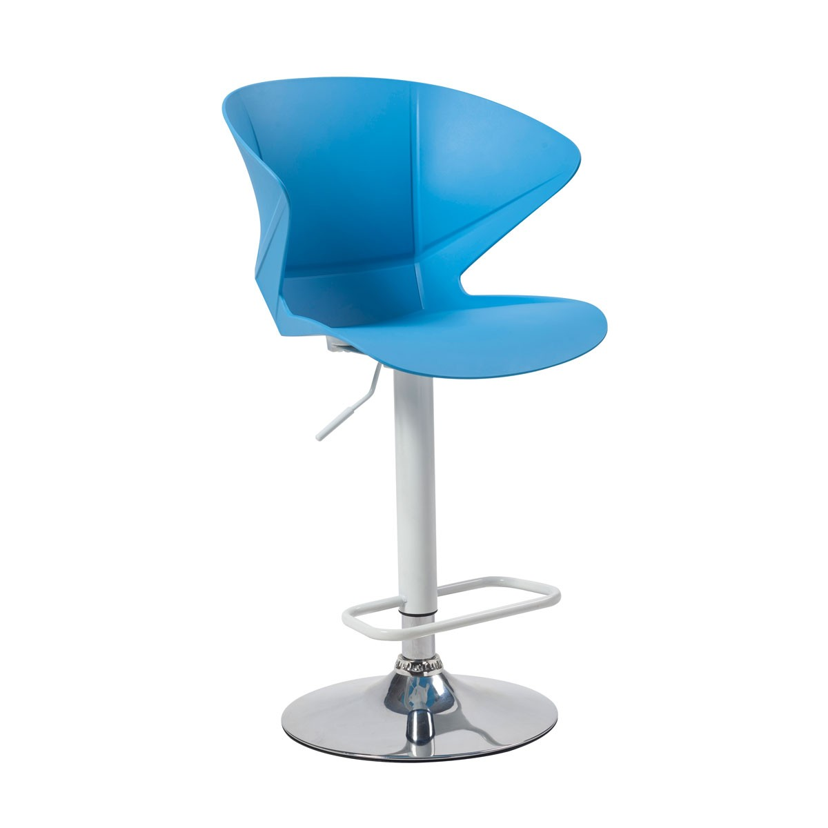 Adjustable Height Swivel Bar Stool with Round Base - (YMG-9802)