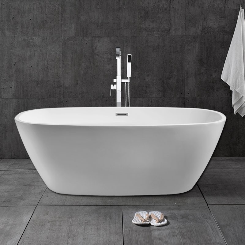 67 In Freestanding Bathtub - Acrylic Pure White (DK-PW-28778)