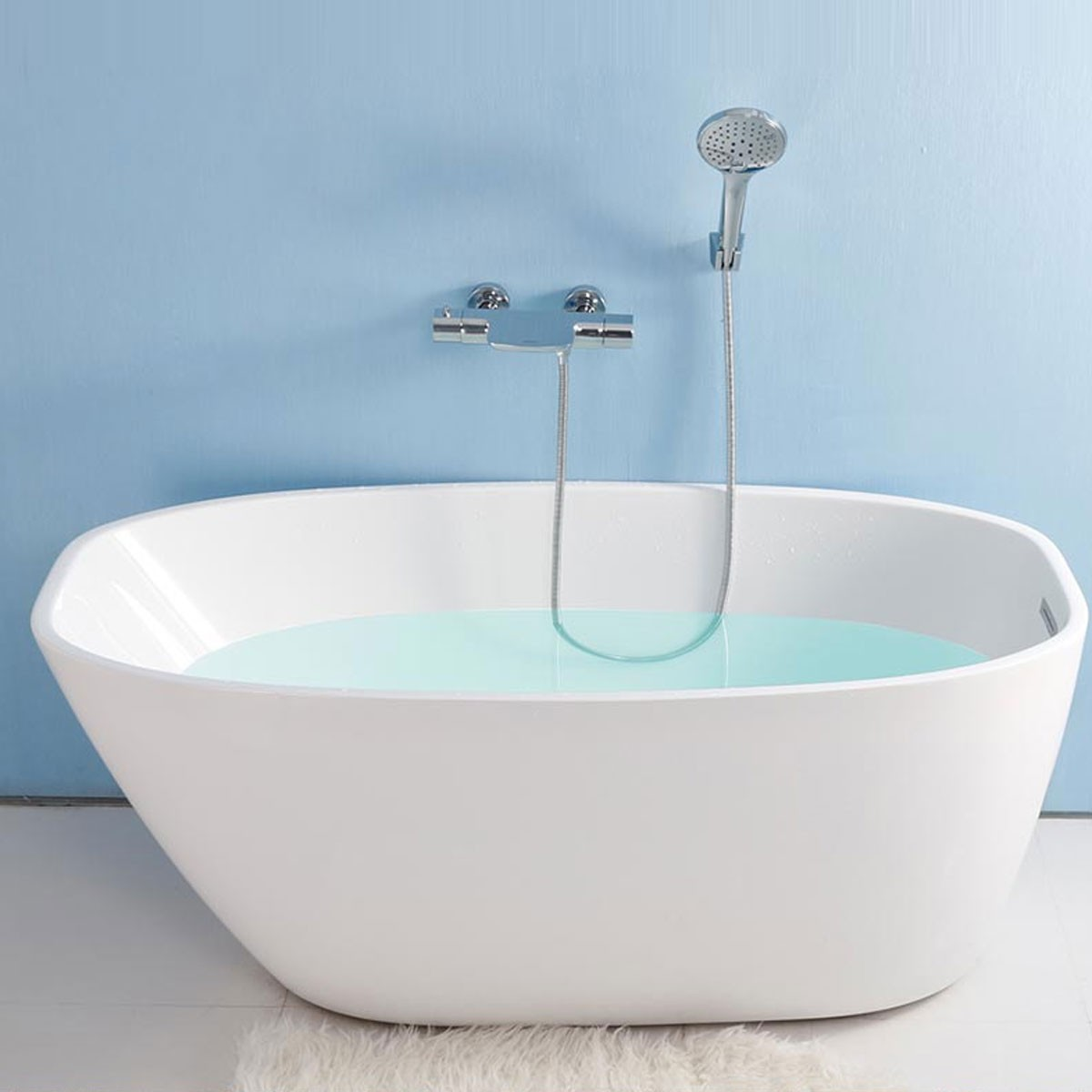 59 In Freestanding Bathtub - Acrylic White (DK-YU-15575 ...