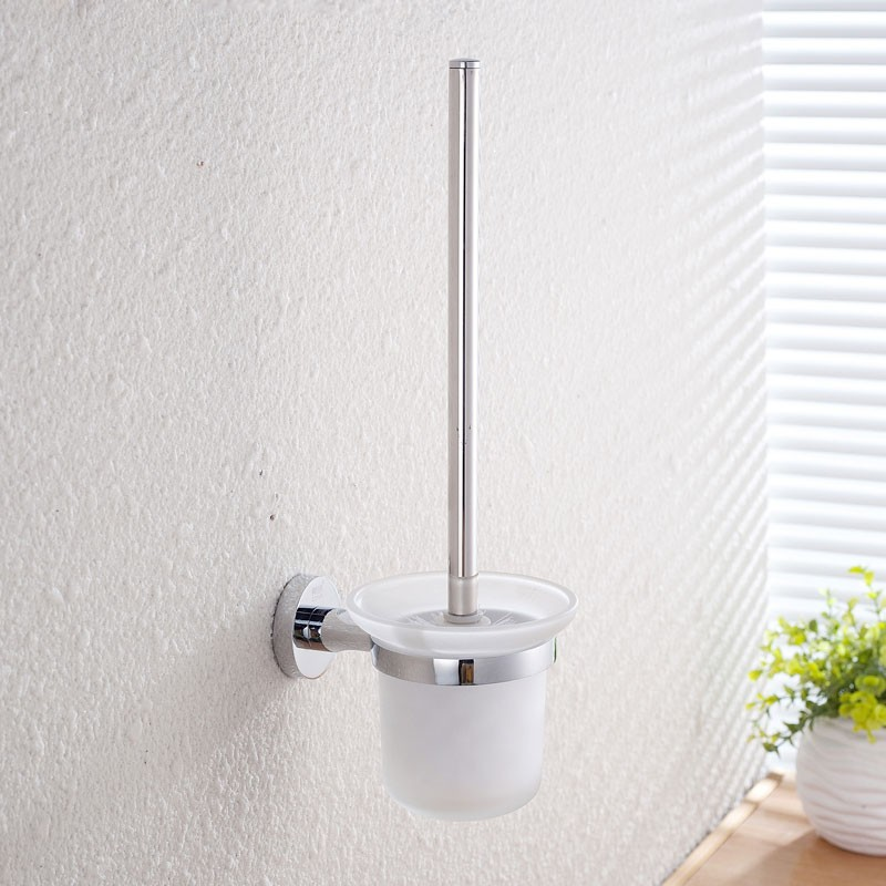 Toilet Brush Holder - Chrome Brass (2808)