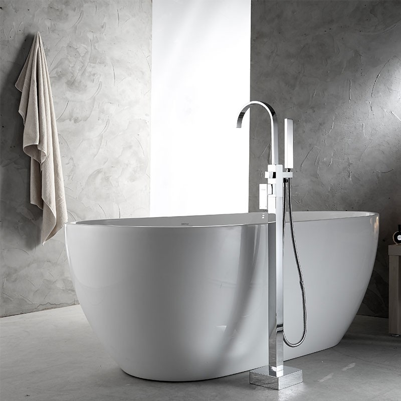 Freestanding Bathtub Faucet With Hand Shower Brass With